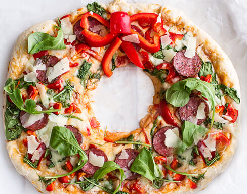 Pizza Wreath
